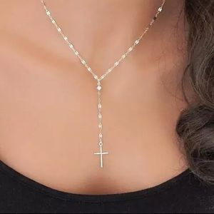 NWT 925 Silver Plated Cross Necklace